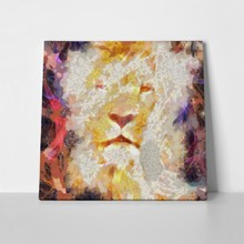 Abstract lion portrait 181797404 a