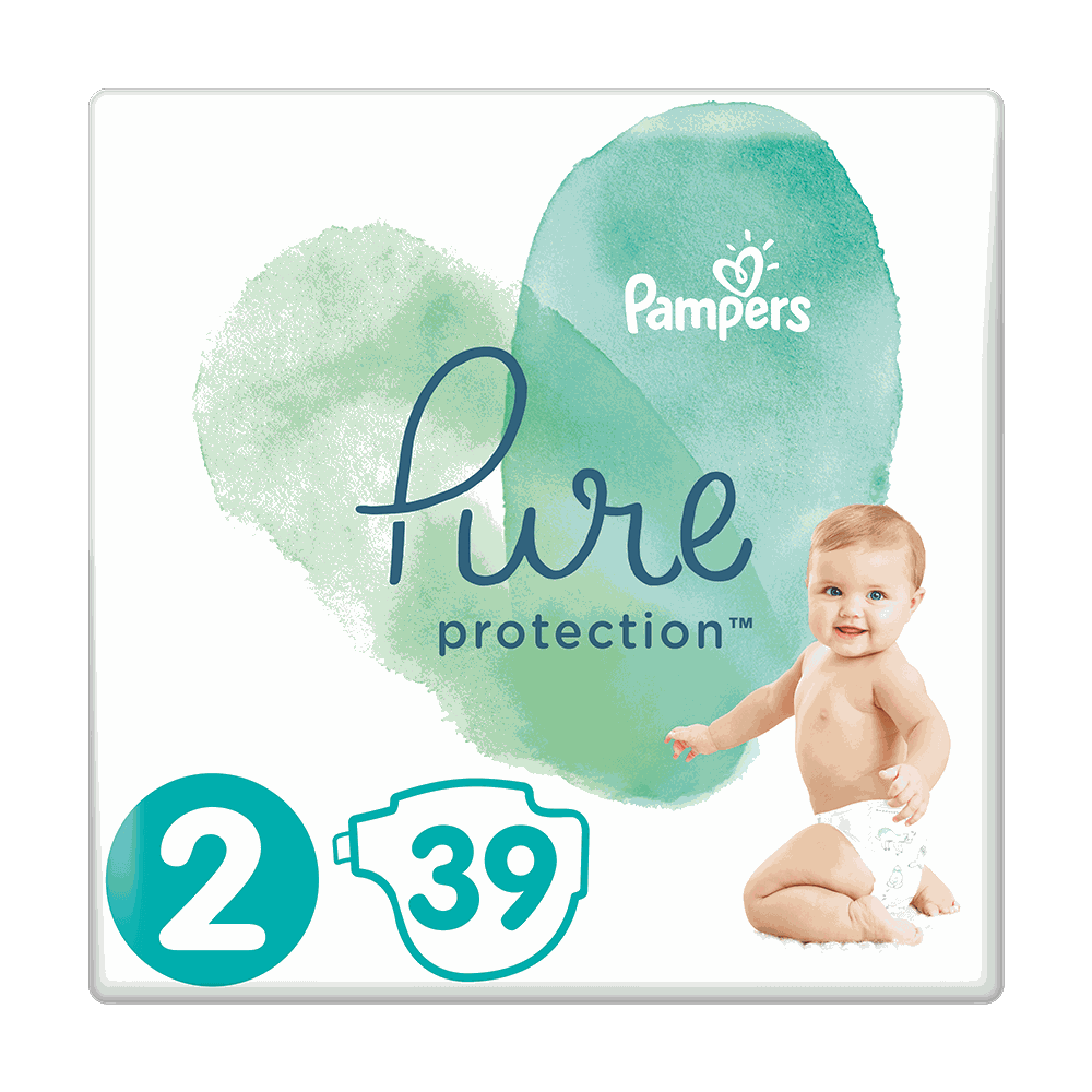 178904 pampers   pure protection no2  4 8kg    39      8001090834782