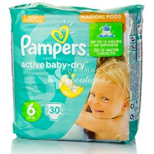 Pampers No.6 (15+ kg) - Active Baby Dry, 30τμχ