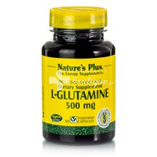 Natures Plus L-GLUTAMINE 500mg - Έντερο, 60vcaps