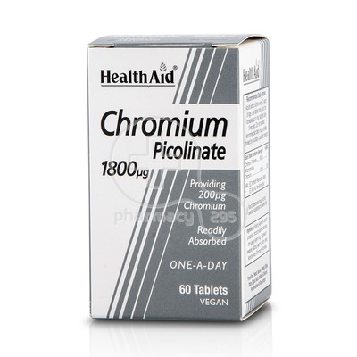 HEALTH AID - Chromium Picolinate 1800mg - 60tabs