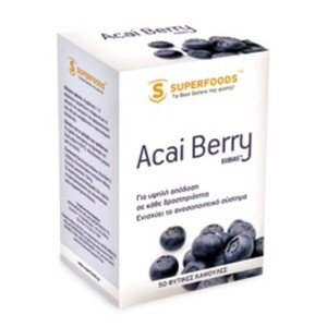 Superfoods food supplement acai berry eubias 50caps