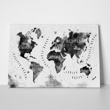Black watercolor continents map 221659567 a