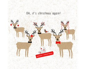 Paperproducts Χαρτοπετσέτα Oh, Christmas Again! 33Χ33cm