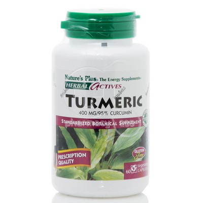 NATURE'S PLUS - HERBAL ACTIVES Turmeric 400mg - 60 caps