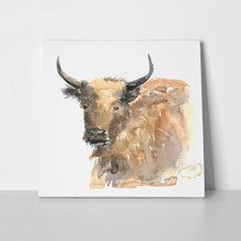 Bulls head watercolor 440066416 a