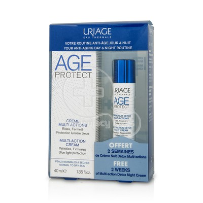 URIAGE - PROMO PACK AGE PROTECT Creme Multi-Actions - 40ml PNS ΜΕ ΔΩΡΟ Creme Nuit Detox Multi-Actions - 10ml
