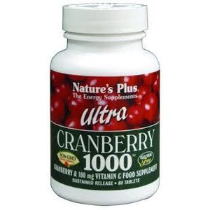 Nature s plus  ultra cranberry 1000 mg  60 tabs
