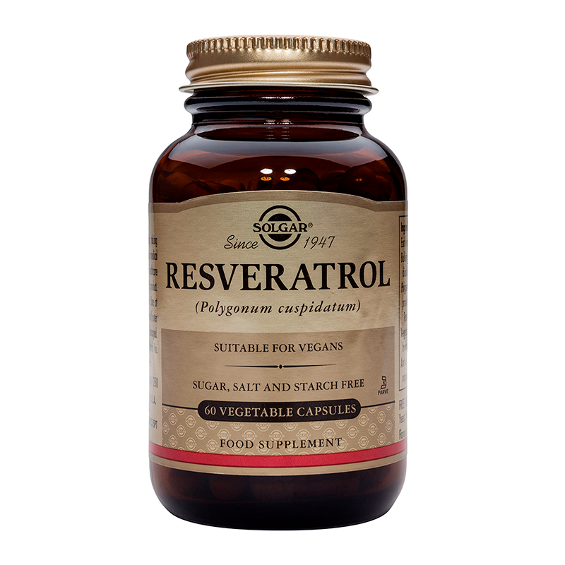 Resveratrol 100mg veg caps/ 250mg softgels