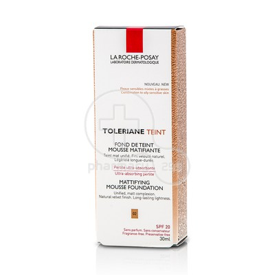 LA ROCHE-POSAY - TOLERIANE TEINT FDT Mousse Matifiante 02 (Light Beige) - 30ml