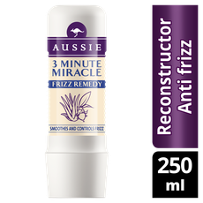 Aussie 3 Minute Miracle Frizz Remedy Deep Treatment Εντατική Μάσκα Μαλλιών 250ml. Αφήνει τα μαλλιά σας απαλά και λαμπερά, δρα σε 3 λεπτά, ιδανική για μαλλιά ατίθασα που φριζάρουν.