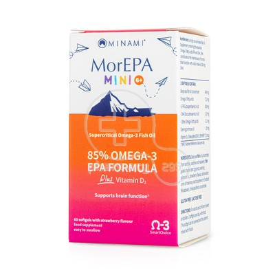 MINAMI - MorEPA Mini Smart Fats 85% Supercritical Omega-3 - 60softgels