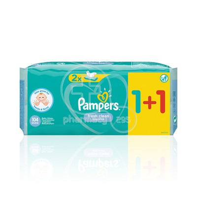 PAMPERS - PROMO PACK 1+1 ΔΩΡΟ FRESH CLEAN Μωρομάντηλα - 52τεμ.