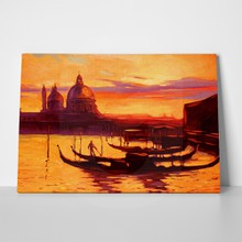 Sunset venice painting a