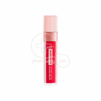 L'OREAL PARIS - LES MACARONS Ultra Matte Liquid Lipstick No828 (Framboise Frenzy) - 7,6ml