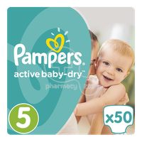 PAMPERS - Active Baby Dry No5 (11-18kg) - 50 πάνες