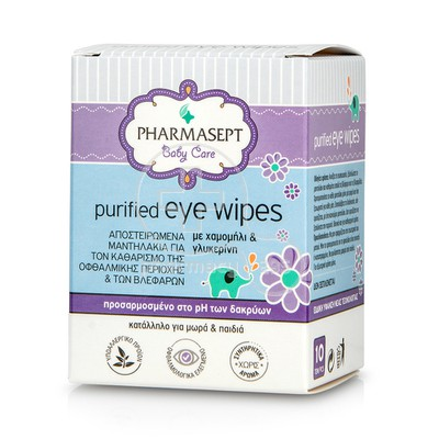 PHARMASEPT - BABY CARE Purified Eye Wipes - 10τεμ.