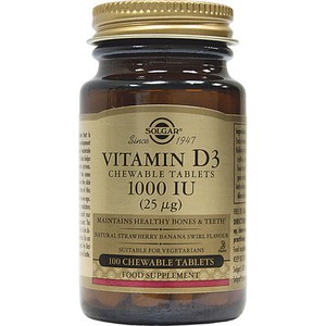 SOLGAR Vitamin D3 1000iu 25mg 100chewable tablets