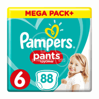 PAMPERS - MEGA BOX Pants Extra Large No6 (15+kg) - 88 πάνες