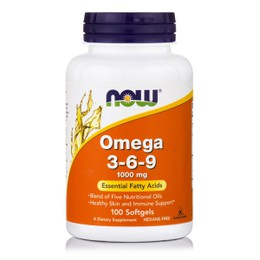 Now Omega 3 6 9 1000 mg, 100 softgels
