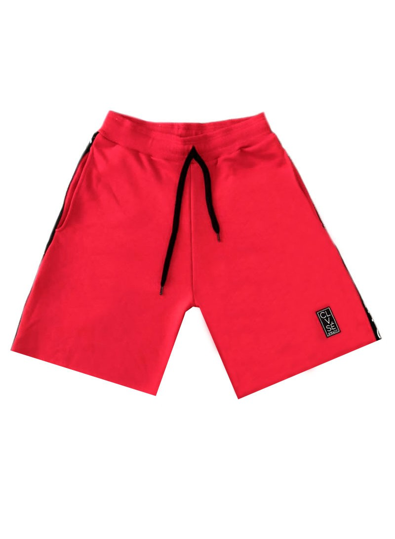 CLVSE SOCIETY RED SIDE LINE SHORTS