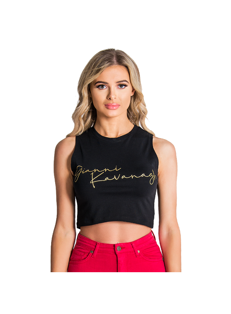 Gianni Kavanagh Black Gk Signature Crop Top