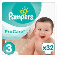 PAMPERS PROCARE PREMIUM PROTECTION ΜΕΓ 3 5-9KG 32TEMAXIA