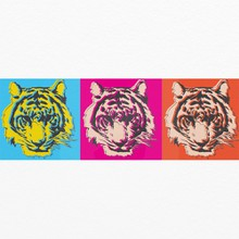 Pop art tiger a