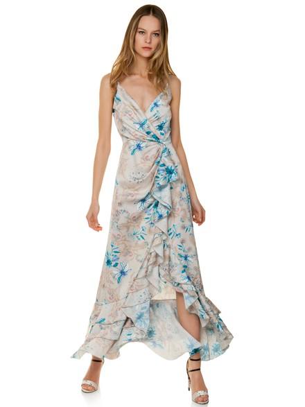 b7b2862d8834 Κρουαζέ φόρεμα με τύπωμα λαχούρι
