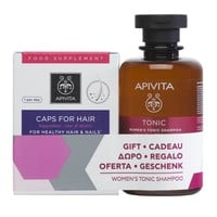 Apivita Caps For Healthy Hair & Nails 30 Caps + Δώρο Women's Tonic Shampoo Hippophae TC & Laurel 250ml