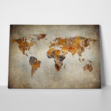 Grunge map of the world 113023426 a