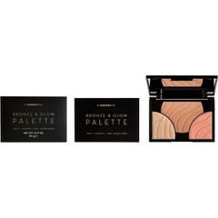 Korres Bronze & Glow Palette Multi-Purpose / Sun  Kissed Look Παλέτα 3 Αποχρώσεων Champagne Glow Για Χρήση Ως Bronzer, Highlighter & Ρουζ, 20g