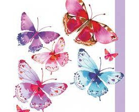 Paperproducts Χαρτοπετσέτα Aquarell Butterflies 33Χ33cm