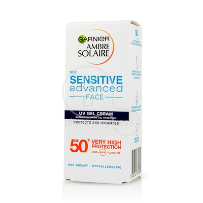 GARNIER - AMBRE SOLAIRE Sensitive Advanced Face UV Gel Cream SPF50+ - 50ml