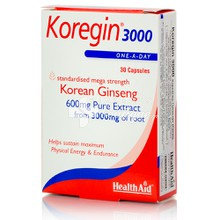 Health Aid KOREGIN 600mg - Ενέργεια, 30tabs