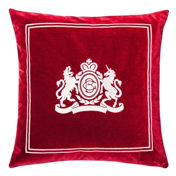 Velvet Pillow in Bordeaux Colour