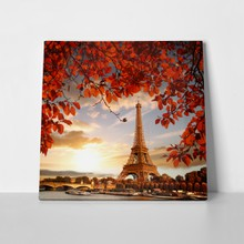Eiffel tower autumn leaves 509561899 a