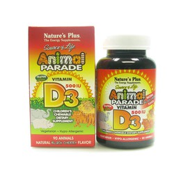 Nature's Plus Animal Parade Vitamin D3 90ταμπλέτες