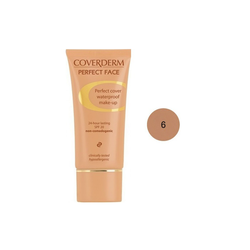 Coverderm Perfect Face SPF20 No 6 Αδιάβροχο Κρεμώδες Make Up 30ml