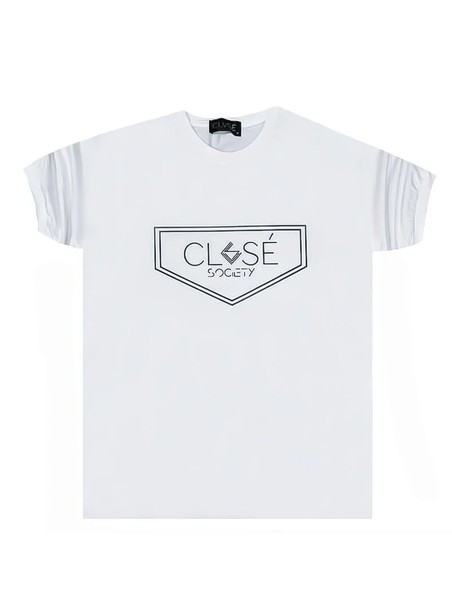CLVSE SOCIETY WHITE T-SHIRT 507 TRIANGLE