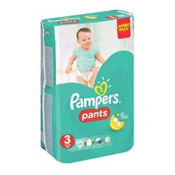 Pampers Pants No 3 Jumbo (6-11kg) 60 Τεμαχιών