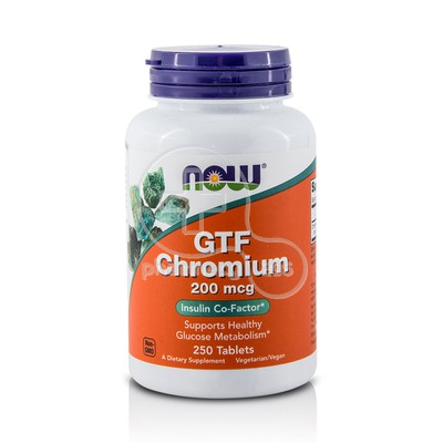 NOW - GTF Chromium 200mcg - 250tabs