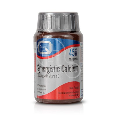QUEST - Synergistic Calcium with vitamin D - 45tabs
