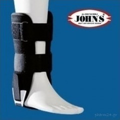 John's Action Sports Air-Gel Ankle Brace One Size Black (23210)
