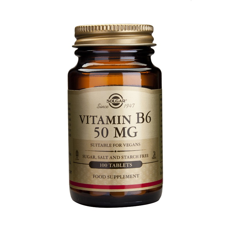 Vitamin B-6 50mg tabs ⁄ 100mg veg. caps