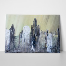 Abstract city acrylic painting 494445613 a
