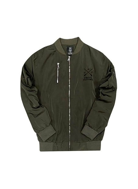 VINYL ART CLOTHING BOMBER JACKET KHAKI
