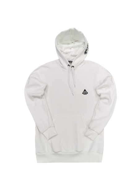 TONY COUPER WHITE HOODIE WITH HOOD LOGO