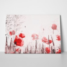 Retro flower background poppies 293881952 a