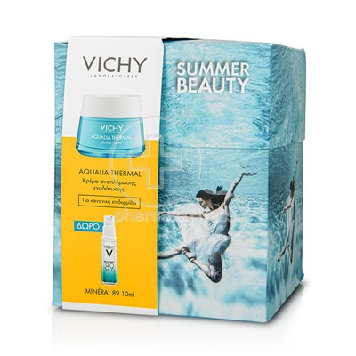 VICHY - PROMO PACK AQUALIA THERMAL Creme Rehydratante Legere - 50ml PNM ΜΕ ΔΩΡΟ Mineral 89 - 10ml